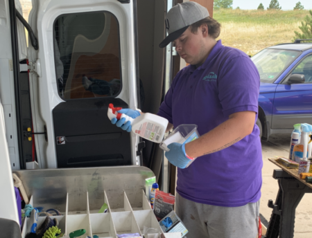 Dustin Cleaning Supplies Truck
